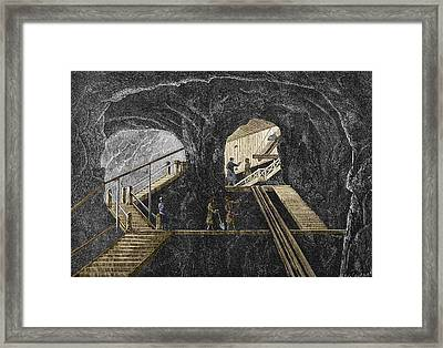 19th-century Mining Framed Print by Sheila Terry