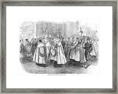 1st Vatican Council, 1869 Framed Print by Granger