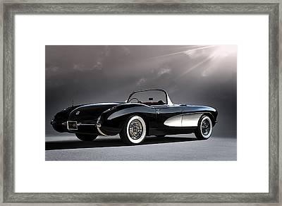 '56 Corvette Convertible Framed Print by Douglas Pittman