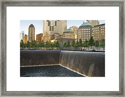 911 Memorial Park Framed Print by Andrew Kazmierski