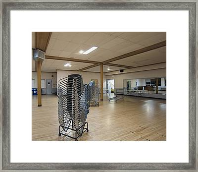 A Large Open Hall With Stackable Framed Print by Marlene Ford
