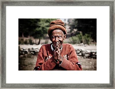 A Man Of The Land Framed Print by Steven Gray