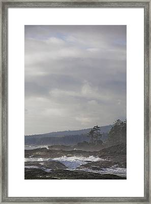 A Stormy Day On Vancouver Islands West Framed Print by Taylor S. Kennedy