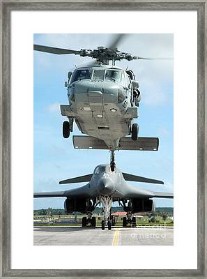 A U.s. Navy Mh-60s Seahawk Helicopter Framed Print by Stocktrek Images