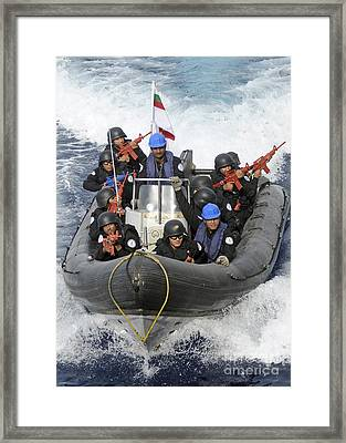 A Visit, Board, Search And Seizure Team Framed Print by Stocktrek Images