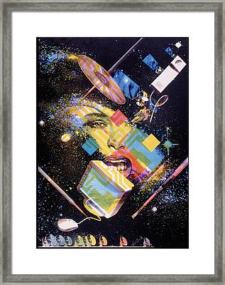Abstract Artwork Of The Information Superhighway Framed Print by Hans-ulrich Osterwalder