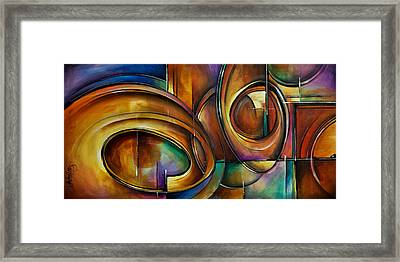 Abstract Design Framed Print by Michael Lang