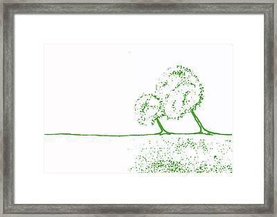 Abstract Tree Art By Shawna Erback Framed Print by Shawna Erback