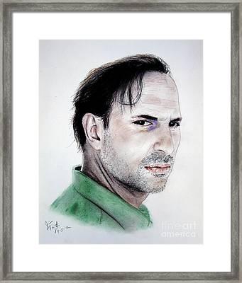 Actor Oscar Torre Framed Print by Jim Fitzpatrick