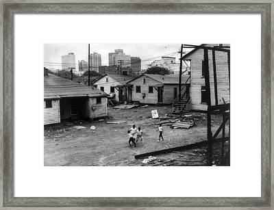 African American Children Playing Framed Print by Everett