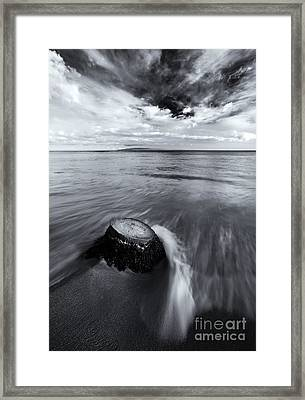 Against The Tides Framed Print by Mike  Dawson