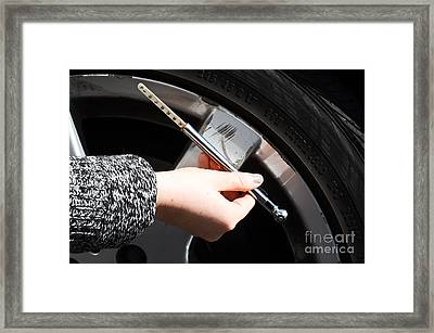 Air Pressure Gauge Framed Print by Photo Researchers