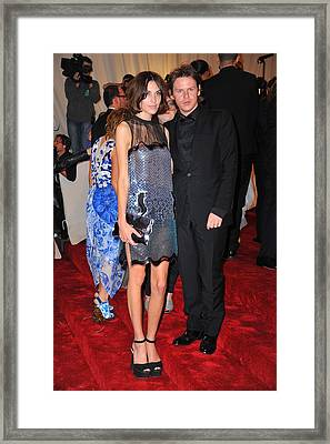 Alexa Chung Wearing A Christopher Kane Framed Print by Everett