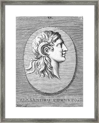 Alexander The Great (356-323 B.c.) Framed Print by Granger