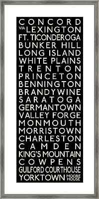 American Revolution Framed Print by Chris Brown
