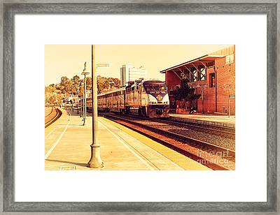 Amtrak Train At The Martinez California Train Station . 7d10495 Framed Print by Wingsdomain Art and Photography