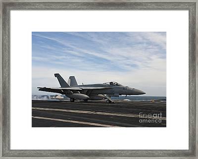 An Fa-18f Super Hornet Takes Framed Print by Stocktrek Images