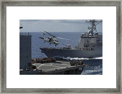 An Mh-60s Knighthawk Helicopter Framed Print by Stocktrek Images