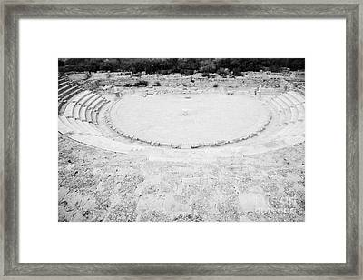 Ancient Site Of Roman Theatre At Salamis Famagusta Turkish Republic Of Northern Cyprus Trnc Framed Print by Joe Fox