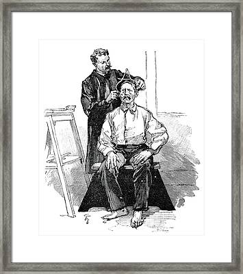 Anthropometry, 19th Century Framed Print by