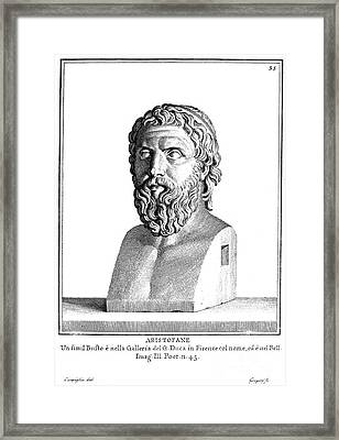 Aristophanes (c450-c388 B.c.) Framed Print by Granger