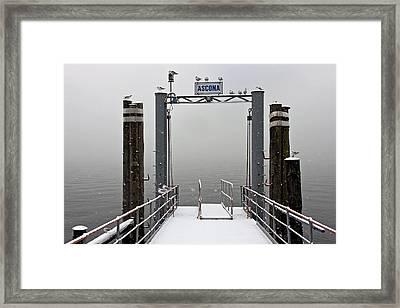 Ascona With Snow Framed Print by Joana Kruse
