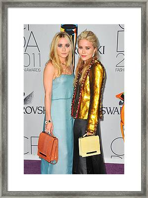 Ashley Olsen Wearing The Row, Mary-kate Framed Print by Everett