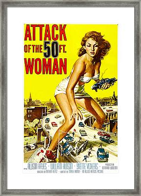 Attack Of The 50 Foot Woman, Allison Framed Print by Everett