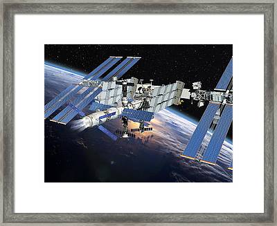 Atv Boosting The Iss, Artwork Framed Print by David Ducros