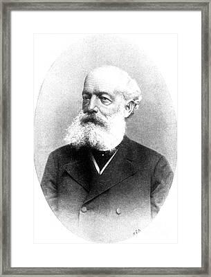 August Kekulé, German Organic Chemist Framed Print by Science Source