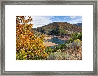 Autumn At Causey Reservoir - Utah Framed Print by Gary Whitton