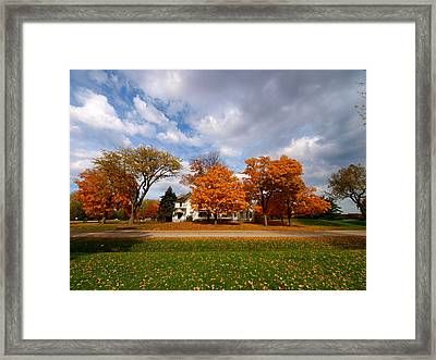 Autumn Is Colorful Framed Print by Paul Ge