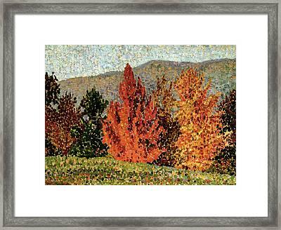 Autumn Landscape Framed Print by Henri-Edmond Cross