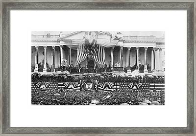 B. Harrison Inauguration Framed Print by Granger