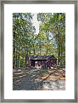 Babcock Cabin Framed Print by Steve Harrington