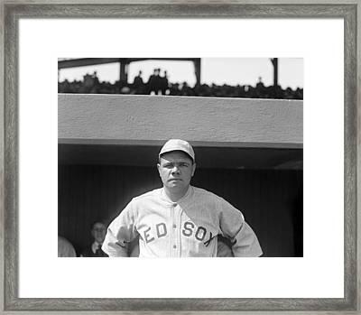 Babe Ruth, 1919 Framed Print by Everett