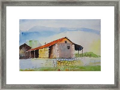 Bamboo House Framed Print by Vijayendra Bapte