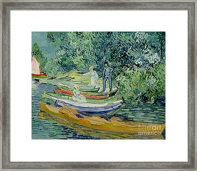 Bank Of The Oise At Auvers Framed Print by Vincent Van Gogh