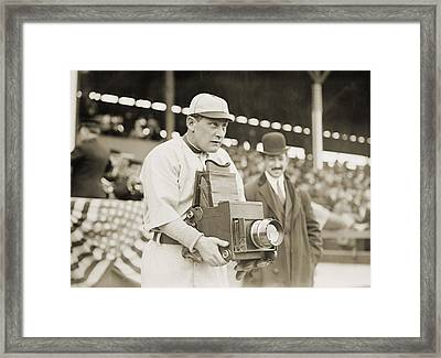 Baseball: Camera, C1911 Framed Print by Granger