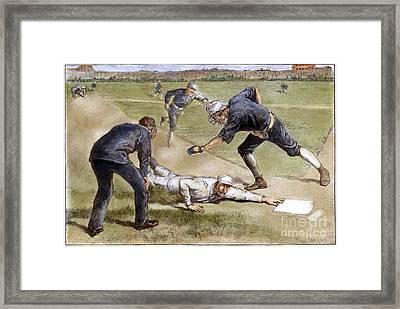 Baseball Game, 1885 Framed Print by Granger
