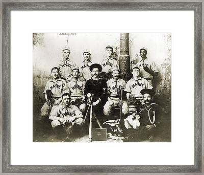Baseball Team, C1898 Framed Print by Granger
