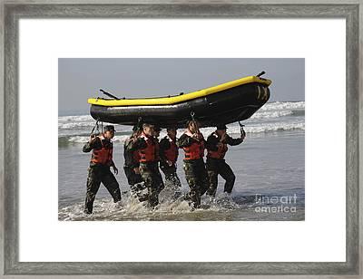 Basic Underwater Demolitionseal Framed Print by Stocktrek Images