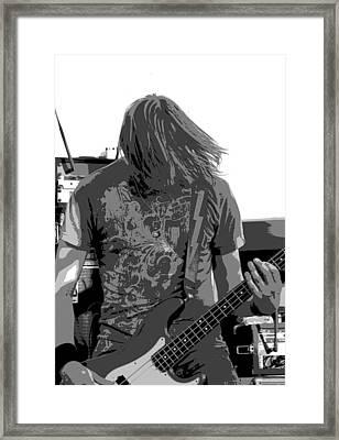Bass Guitar Framed Print by James Hammen