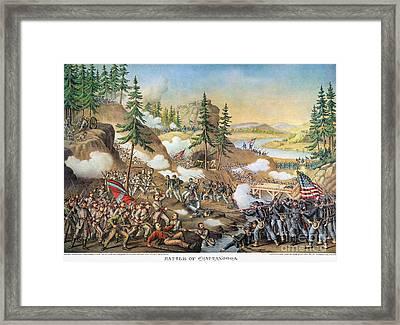 Battle Of Chattanooga 1863 Framed Print by Granger