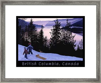 Bc Thompson River Poster Framed Print by Neil Woodward