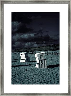 Beach Chairs Framed Print by Joana Kruse