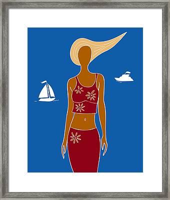 Beach Days Framed Print by Frank Tschakert