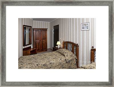 Beds In Hotel Room Framed Print by Jaak Nilson