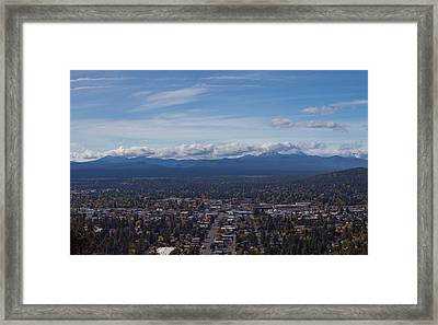 Bend Oregon From Pilot Butte Framed Print by Twenty Two North Photography