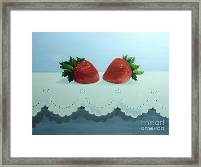 Berries And Lace Framed Print by Peggy Miller